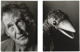 Rod Hull and Emu, by Trevor Leighton - NPG x88387