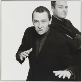 Charlie Higson; Paul Whitehouse, by Trevor Leighton, 1997 - NPG  - © Trevor Leighton / National Portrait Gallery, London