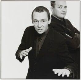 Charlie Higson; Paul Whitehouse, by Trevor Leighton - NPG x88393