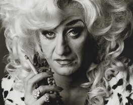 Paul O'Grady as Lily Savage, by Trevor Leighton, 1999 - NPG  - © Trevor Leighton / National Portrait Gallery, London