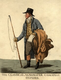 Tilleman Hodgkinson Bobart ('The classical almamater coachman, Oxford'), by and published by Robert Dighton - NPG D9438