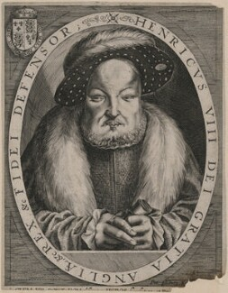 King Henry VIII, by Peter Isselburg (Yselburg, Eisselburg), after  Cornelis Metsys (Massys) - NPG D9450