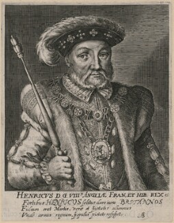 King Henry VIII, by Magdalena de Passe, or by  Willem de Passe - NPG D9451
