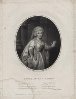 Gertrud Elisabeth Mara, by Joseph Collyer the Younger, after  Philip Jean - NPG D9476