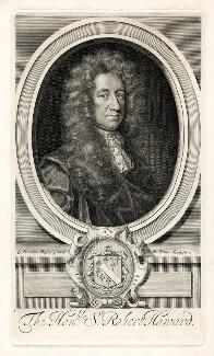 Sir Robert Howard, by Robert White, after  Sir Godfrey Kneller, Bt - NPG D9477