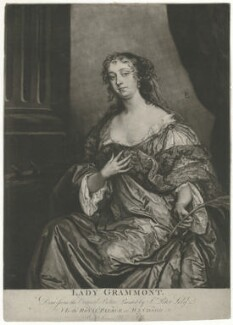 Elizabeth Hamilton, Countess de Gramont, by James Macardell, after  Sir Peter Lely - NPG D34758