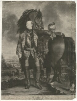 John Manners, Marquess of Granby and an unknown boy, by James Watson, sold by  Ryland and Bryer, after  Sir Joshua Reynolds - NPG D34760