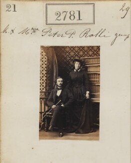 Peter Pantia Ralli; Alexandra Ralli (née Ralli), by Camille Silvy - NPG Ax52170