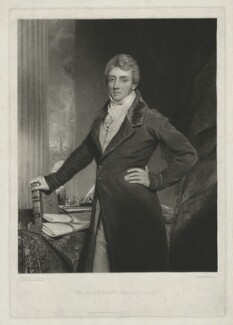 Charles Grant, Baron Glenelg, by Charles Turner, published by  Colnaghi & Co, after  Thomas Clement Thompson - NPG D34769