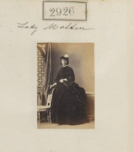 Emma Mary (née Meux), Viscountess Malden, by Camille Silvy - NPG Ax52315