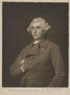 William Davidson, by and published by John Jones, after  Sir Joshua Reynolds - NPG D34812