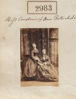 Annie Yorke (née de Rothschild); Constance Flower (née de Rothschild), Lady Battersea, by Camille Silvy - NPG Ax52381