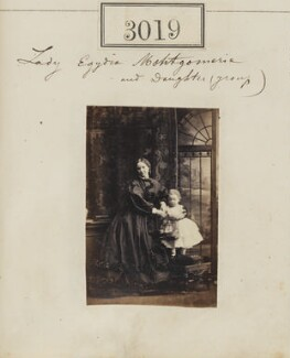 Egidia (née Montgomerie), Lady Rendlesham with an unknown girl, by Camille Silvy - NPG Ax52422