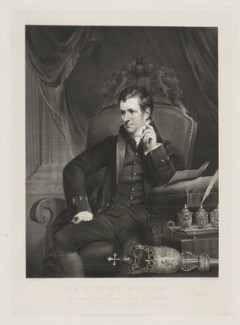Sir Humphry Davy, Bt, by William Henry Worthington, published by  Agnew & Zanetti, and published by  Rudolph Ackermann, after  James Lonsdale - NPG D34825
