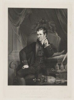 Sir Humphry Davy, Bt, by William Henry Worthington, published by  Agnew & Zanetti, and published by  Rudolph Ackermann, after  James Lonsdale, published March 1827 - NPG D34826 - © National Portrait Gallery, London