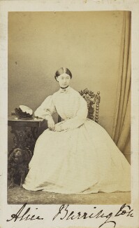 Hon. Alice Louisa Campbell (née Barrington), by Unknown photographer - NPG Ax10009