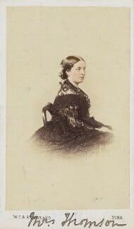 Mrs Thomson, by W.T. & R. Gowland (William Thomas Gowland & Robert Gowland) - NPG Ax10025