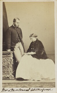 Ernest Roland Wilberforce; Frances Mary Wilberforce (née Anderson), by Unknown photographer, 1860s - NPG Ax10057 - © National Portrait Gallery, London
