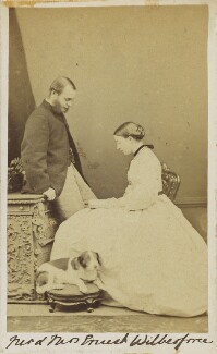Ernest Roland Wilberforce; Frances Mary Wilberforce (née Anderson), by Unknown photographer, 1860s - NPG Ax10059 - © National Portrait Gallery, London
