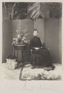 Madeline Pamela Constance Blanche Adeane (née Wyndham), by Cyril Flower, 1st Baron Battersea - NPG Ax15713