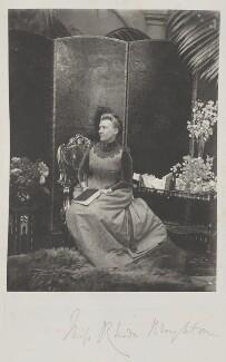 Rhoda Broughton, by Cyril Flower, 1st Baron Battersea - NPG Ax15714