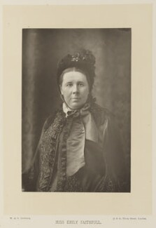 Emily Faithfull, by W. & D. Downey, published by  Cassell & Company, Ltd, published 1891 - NPG Ax15910 - © National Portrait Gallery, London