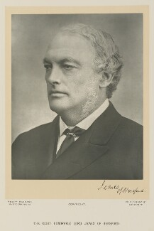 Henry James, 1st Baron James of Hereford, by Bassano Ltd - NPG Ax15952