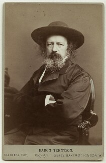 Alfred, Lord Tennyson, by Elliott & Fry - NPG x12996
