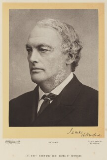 Henry James, 1st Baron James of Hereford, by Bassano Ltd - NPG Ax16101