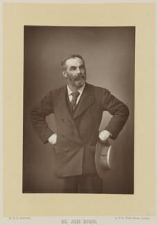 John Elliott Burns, by W. & D. Downey, published by  Cassell & Company, Ltd - NPG Ax16148