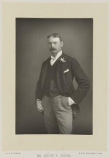 Jerome Klapka Jerome, by W. & D. Downey, published by  Cassell & Company, Ltd - NPG Ax16151