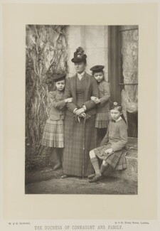 Princess Louise, Duchess of Connaught with her children, by W. & D. Downey, published by  Cassell & Company, Ltd - NPG Ax16162