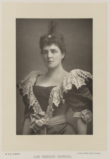 Jeanette ('Jennie') Churchill (née Jerome), Lady Randolph Churchill, by W. & D. Downey, published by  Cassell & Company, Ltd, published 1893 - NPG Ax16177 - © National Portrait Gallery, London