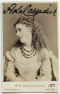 Ada Cavendish (later Marshall), by London Stereoscopic & Photographic Company - NPG Ax18162
