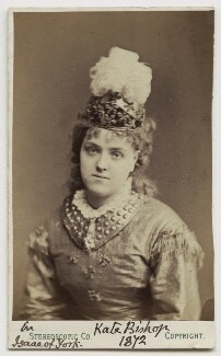 Kate Bishop in 'Isaac of York', by London Stereoscopic & Photographic Company - NPG Ax18177