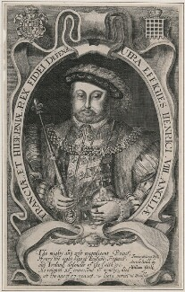 King Henry VIII, by Francis Delaram - NPG D9461