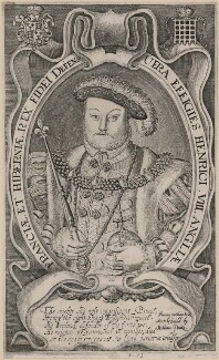 King Henry VIII, by Francis Delaram - NPG D9462