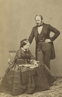 Queen Victoria; Prince Albert of Saxe-Coburg-Gotha, by John Jabez Edwin Mayall - NPG Ax26215