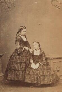 Helena Augusta Victoria, Princess Christian; Princess Louise Caroline Alberta, Duchess of Argyll, by John Jabez Edwin Mayall - NPG Ax26221