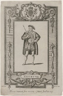 King Henry VIII, by S. Sparrow, after  Samuel Wale - NPG D9463