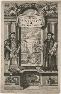 King Henry VIII; Thomas Cranmer, by Philip Simms - NPG D9464