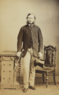 Percy Barrington, 8th Viscount Barrington, by Unknown photographer - NPG Ax26244