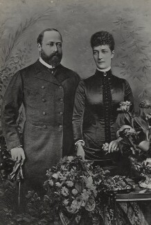 King Edward VII; Queen Alexandra, by Lafayette - NPG Ax26439