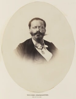 Victor Emmanuel II, King of Italy, by Unknown photographer - NPG Ax27697