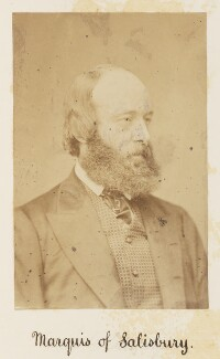 Robert Gascoyne-Cecil, 3rd Marquess of Salisbury, by Unknown photographer - NPG Ax27715