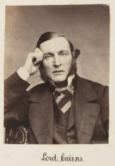 Hugh McCalmont Cairns, 1st Earl Cairns, by Unknown photographer - NPG Ax27717