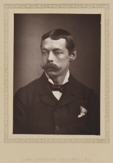 Lord Randolph Churchill, by London Stereoscopic & Photographic Company, published 1881 - NPG Ax27794 - © National Portrait Gallery, London