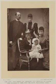 Alexandra of Denmark with members of her family, by W. & D. Downey, published by  Cassell & Company, Ltd - NPG Ax27899