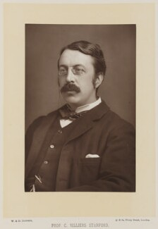 Sir Charles Villiers Stanford, by W. & D. Downey, published by  Cassell & Company, Ltd - NPG Ax27902