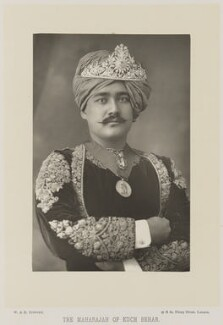 Nripendra Narayan Bhup Bahadur, Maharaja of Cooch Behar, by W. & D. Downey, published by  Cassell & Company, Ltd - NPG Ax27922